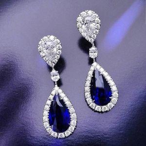 Gorgeous blue sapphire  gemstone earrings